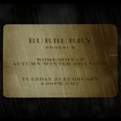 The Countdown has begun... The Autumn/Winter collection life streaming from Burberry's show. Don't be late!