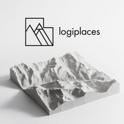 Logiplaces, 16 or 36 piece puzzle made of concrete, that enables you to take home a piece of memory you made at any place in the world. This one-of-a-kind tabletop sculpture will help you see your surroundings in a new perspective.