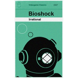 Modern video game covers reimagined as Classic Books.