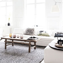 My Scandinavian Home has a look inside the home of By Nord owner, Hanne Berzant. Of course, lots of her stunning pillows everywhere - beautiful!