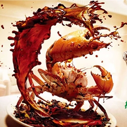 Brilliant print ads by Saatchi & Saatchi in China for Ariel laundry detergent that show food bravely fighting back.