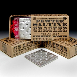 Not sure what I would actually do with a pewter saltine cracker, but I want one.