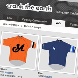 Crank the Earth. Like Threadless but for cycling jerseys!