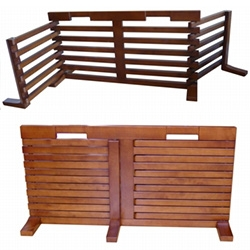 Merry Products Gate-n-Crate - interesting wooden gate design that works free standing, expands, and can fold depending on your needs.