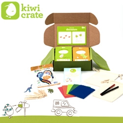 Kiwi Crates - fun monthly packages for kids filled with crafts and projects.