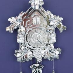 A silver version of your grandma's cuckoo clock.