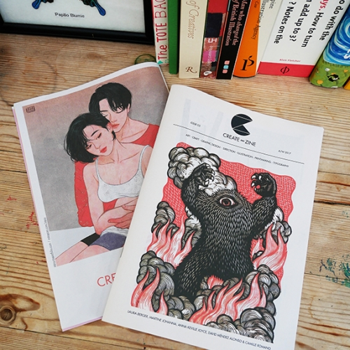 Create-Zine is an independent publication created to showcase some of the best talent in global illustration, printmaking, art, graphic design, craft, typography and art direction.