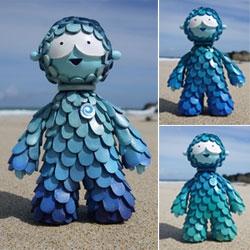"""Cute Muju World Ocean Guardian Sculptures (7"""" tall!)"""
