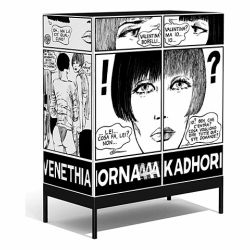 fans of italy's graphic art master guido crepax can get their fill of his famous heroine, valentina, any time they want with this bold mdf furniture collection.