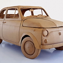 Incredible cardboard vehicles by Chris Gilmour.