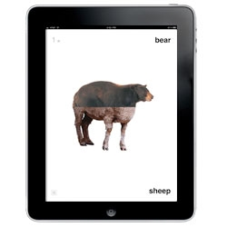 Criteroos: Mix. Match. Print. An app for kids to learn the names of various animals by Clement Mok.