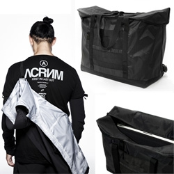 Acronym - incredible gear from the German company that is beyond lustworthy - especially the details! Jacket Slings! Mag headphone panels! Laptop tote that stands when empty! Removable branding... etc