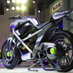 The Crosscage is Suzuki's concept zero emissions motorcycle that runs on a hydrogen fuel cell.
