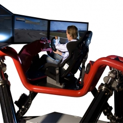"The Cruden Hexatech IV is the ultimate racing simulator for fans of F1, NASCAR and WRC. This monster system features three 42"" screens and lets users experience real life G-Force and steering wheel feedback."