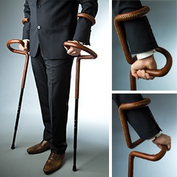 Can Güvenir presents the Flamingo Crutch HE, a new version of his unique Flamingo Crutch, now in leather and metal.