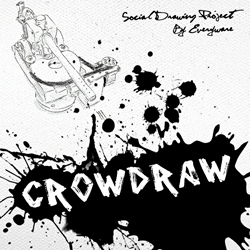 Crowdraw by Everyware is a crowd sourced painting project that uses an app on your smartphone and a paintball gun in a gallery.