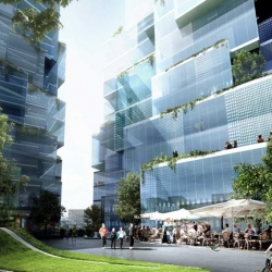 Oslo plans to expand its skyline with these liquidy Crystal Clear towers.