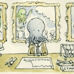 Your glory days are over mr Cthulhu, a short story loosely based on characters from the HP Lovecraft universe by Mattias Adolfsson.