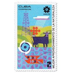 Stamps from Cuba commemorating the 1970 World Expo in Osaka, Japan.