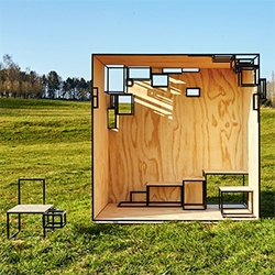 Filip Janssens Jointed Cube outdoor piece which will be at A Belgian Village during the Salone.