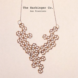 The Harbinger Co's Honeycomb necklace... or array of 2D cubes depending on how you look at it...