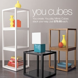 Fun super versatile cubes at Crate and Barrel