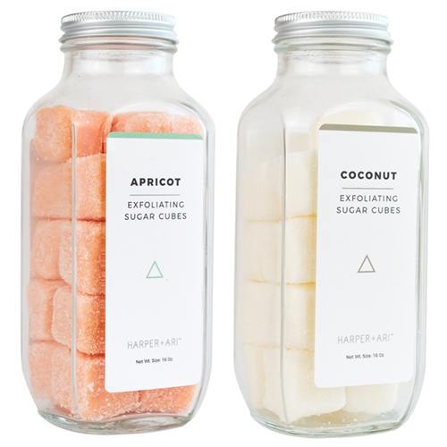 Harper + Ari Sugar Cubes - nice single serving body exfoliating cubes! A nice alternative to having to scoop it out of a container with your fingers or a spoon.