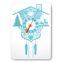 love this adorable cuckoo clock by decoylab! how fun!
