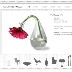this vase freaks me out.  and ive developed a strange love of the green chicken.  lots of fun stuff @ cucumber lab.