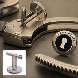 Sparrow makes handcuff key cufflinks