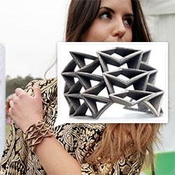 Fathom and Form Spinal Cuff ~ spotted this piece on the founder, Carleigh, in Maggie Mason and Mai Le's post on Outside Lands fashion. 3d printed bronze infused stainless steel!