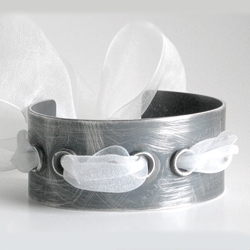 """dress up or dress down"" cuff  bracelet by beth sutton jewelry.  i'd dress it with lace and leather."