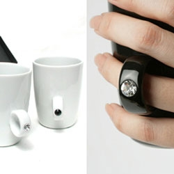 The Cup Ring from Floyd, designed by Yusuke Fujinuma and Yoko Yamazaki. Nice concept, adorable when held.