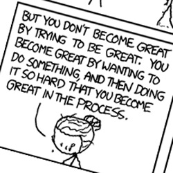 Zombie Marie Curie on Greatness - inspiring XKCD