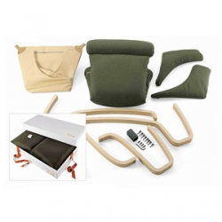i alway struggle to find packable gifts.  this Poltrona Frau chair comes disassembled in a box that's easy to carry.  all you need is an allen wrench!