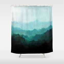 Society 6 has art on Shower Curtains! (Made of 100% polyester)
