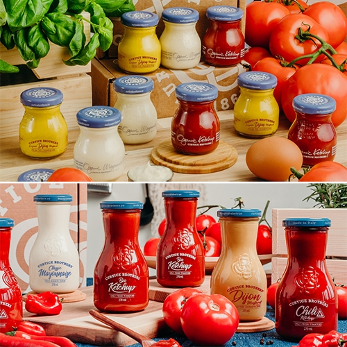 Curtice Brothers organic sauces have great packaging - the curves of those jars!