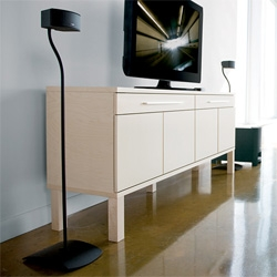Liking the curvature of the speaker stands from Bose