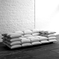 'Cushionized' Sofa by Christiane Hogner. Nice  lo-fi approach to furniture design.