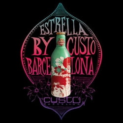 While you're in Barcelona, grab an EstrellaDamm, designed by Custo