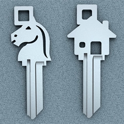 SUPER COOL Designer STAT KEYS collection are stylized blank keys that can be cut to fit majority of American locks and Kwikset locks.