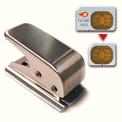 "Stainless steel Micro Sim Cutter cuts a perfect Micro Sim out of your normal Sim. ""Cut My Sim"" consists of twelve stainless steel parts and doesn't allow you to cut your card wrongly."