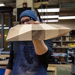 Oliver Apt Cutting Board Workshop in Edmonton! We hop in the studio with 3rd generation carpenter/designer, Landon Schedler, and make laminated, faceted, walnut and maple cutting boards. See how it's done.