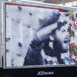 "CutUp Collective did it again! Yesterday they  installed their ""cut up"" billboards  throughout  London.  Impressive work...."