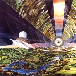 Back in the 1970s, when paisley was still funky and NASA let its visionaries boogie down, the now-staid space agency turned its imagination to the design of space colonies.
