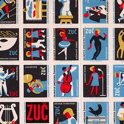 Minneapolis College of Art and Design professor Kindra Murphy presents a collection of uncut Czechoslovakian matchbox labels. Superb in color, form, and arrangement, all across the board.