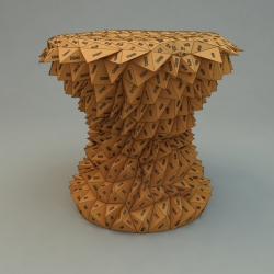 One hundred triangles stool is a series of stool generated by an algorithm by Riccardo Bovo.