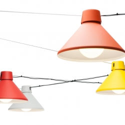Japanese matsuri, festivals where communities celebrate in the decorated streets, inspired Thomas Bernstrand to design a collection of pendant lights ...