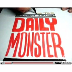 Stephan Bucher records himself drawing a new monster everyday, and posts the results on YouTube. I love the sound of  markers squeaking on paper.