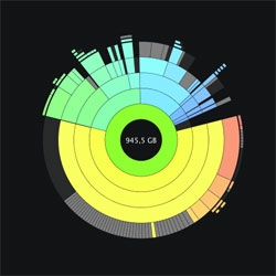 Daisy Disk, a much prettier visualization of your disk usage.